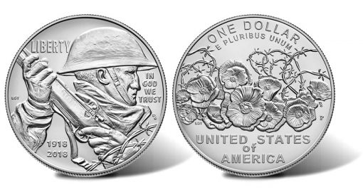 2018-P Uncirculated World War I Centennial Silver Dollar
