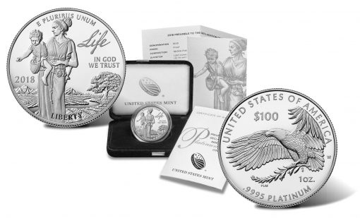 2018-W Proof American Platinum Eagle, Coin, Case and Certificate