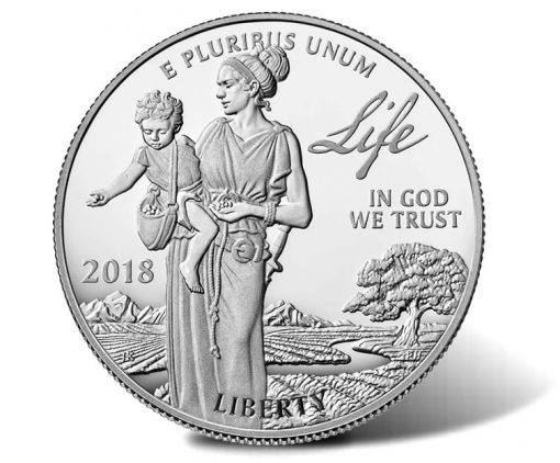 2018-W Proof American Platinum Eagle - Obverse, Life