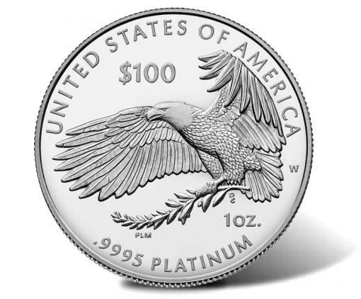 2018-W Proof American Platinum Eagle - Reverse, Eagle