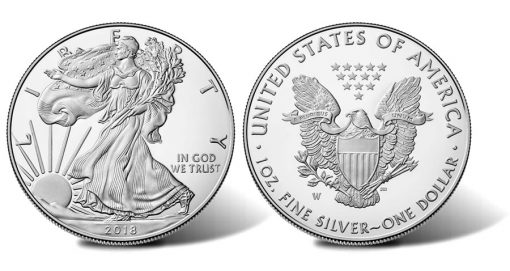 2017-W Proof American Silver Eagle - Images of Obverse and Reverse