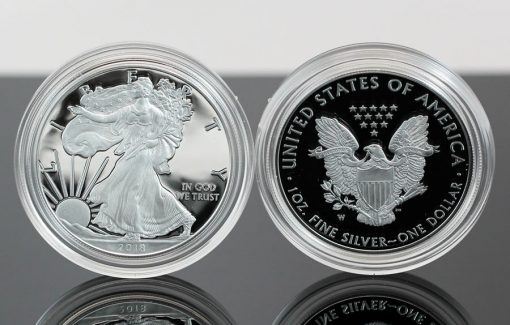 2018-W Proof American Silver Eagle - Photo of Obverse and Reverse