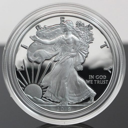 2018-W Proof American Silver Eagle - Photo of Obverse, close