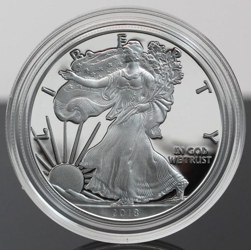 2018-W Proof American Silver Eagle - Photo of Obverse, close-a