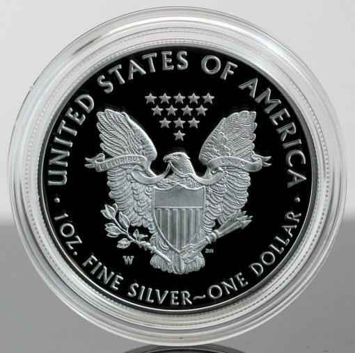 2018-W Proof American Silver Eagle - Photo of Reverse, close