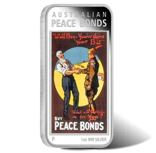 2018 WWI Poster Series - Peace Bonds 1oz Silver Proof Coin