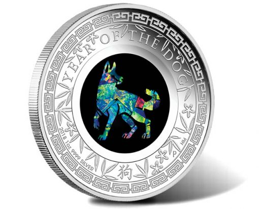2018 Year of the Dog 1oz Silver Proof Opal Coin