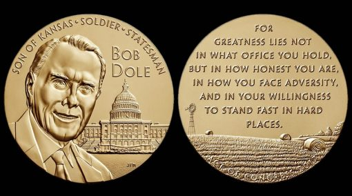 Bob Dole Bronze Medal - obverse and reverse