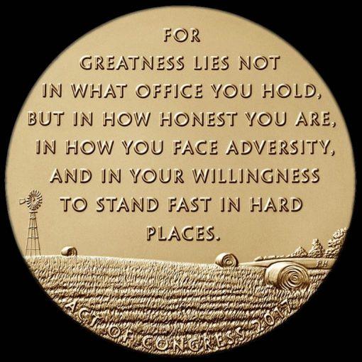 Bob Dole Bronze Medal - reverse