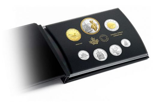 Coins and Case of Canadian 2018 Silver Proof Set