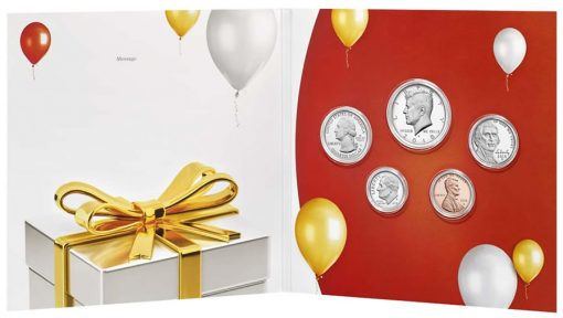 Inside View of 2018 Happy Birthday Coin Set