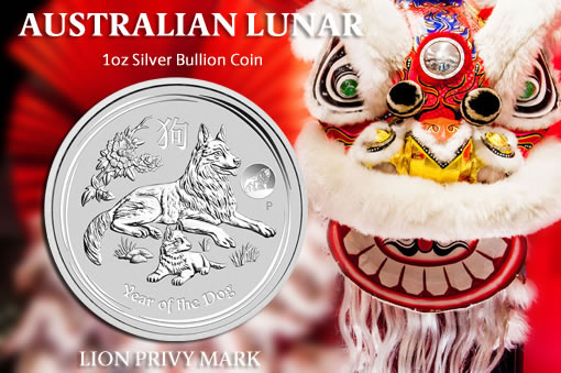 Perth Mint promo - 2018 Australian Lunar Dog Coin - Lion Privy Mark
