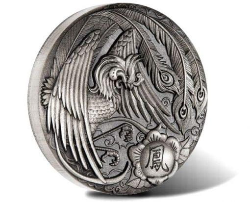 Phoenix 2018 2oz Silver Antiqued Rimless Coin