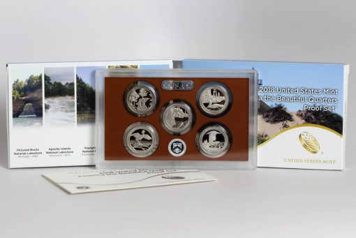 Photo of 2018 America the Beautiful Quarters Proof Set - Packaging, Lens, Coins