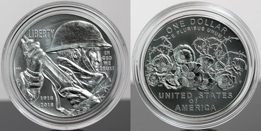 Photo of 2018-P Uncirculated World War I Centennial Silver Dollar
