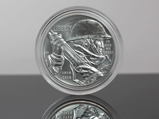 Photo of 2018-P Uncirculated World War I Centennial Silver Dollar - Obverse