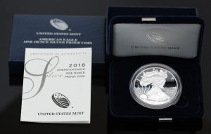 US Mint Sales: 2018 Proof Silver Eagle Tops 264,000