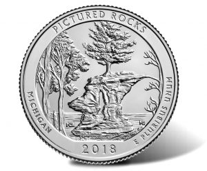 Pictured Rocks National Lakeshore Quarter - reverse