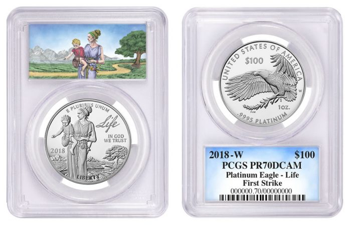 Special Label for First-Strike 2018 Proof American Platinum Eagle - Life