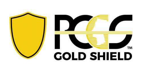 The PCGS Gold Shield logo