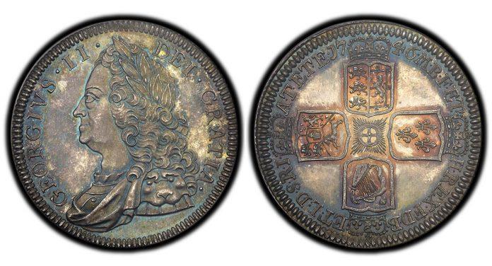 1746 George II proof crown