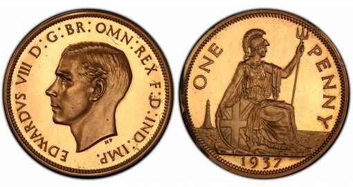 1937 Edward VIII proof penny