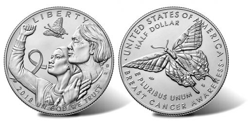 2018-D Uncirculated Breast Cancer Awareness Half-Dollar