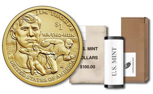 2018 Native American $1 Coin - Roll, Bag and Box