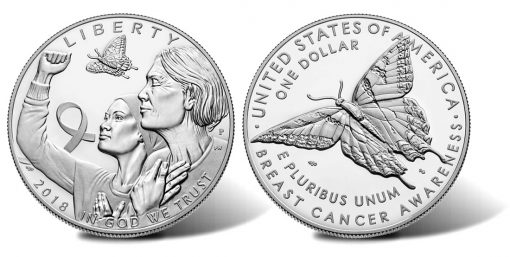 2018-P Proof Breast Cancer Awareness Silver Dollar