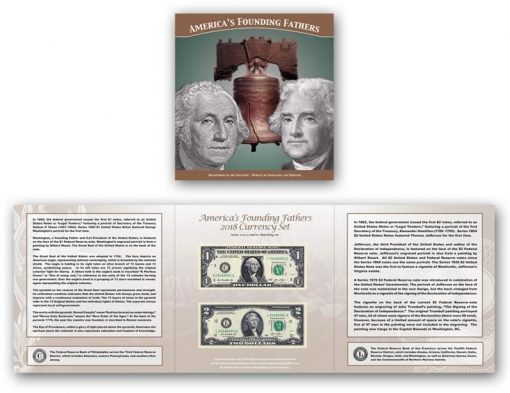 BEP's America's Founding Fathers 2018 Currency Set