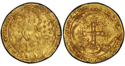 Edward III gold Double Leopard coin