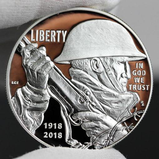 Photo of 2018-P Proof World War I Centennial Silver Dollar - Obverse-a