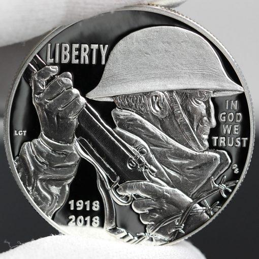 Photo of 2018-P Proof World War I Centennial Silver Dollar - Obverse-b