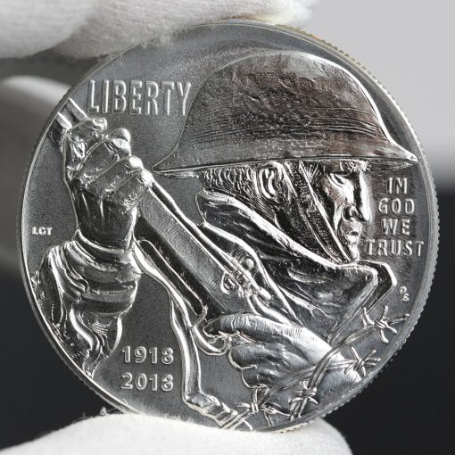 Photo of 2018-P Uncirculated World War I Centennial Silver Dollar - Obverse-a