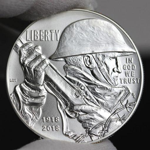 Photo of 2018-P Uncirculated World War I Centennial Silver Dollar - Obverse-b