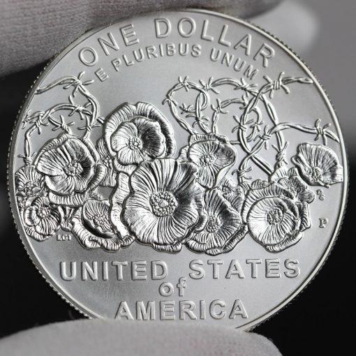 Photo of 2018-P Uncirculated World War I Centennial Silver Dollar - Reverse-a