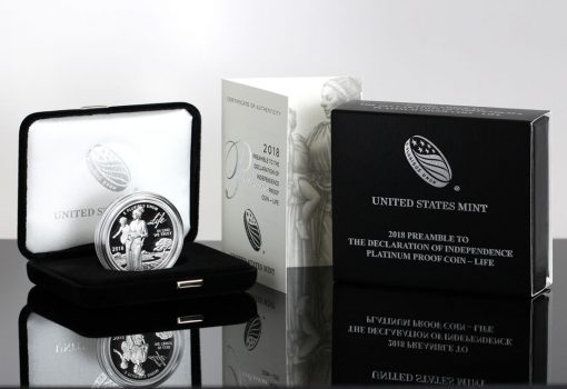 Photo of 2018-W Proof American Platinum Eagle, Certificate and Case