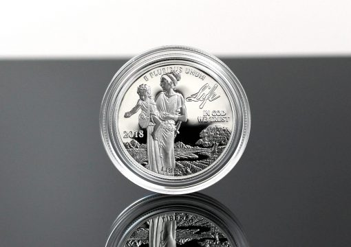 Photo of 2018-W Proof American Platinum Eagle - Obverse, Life