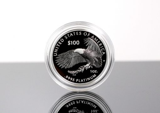 Photo of 2018-W Proof American Platinum Eagle - Reverse, Eagle