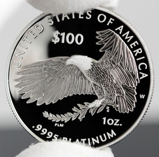 Photo of 2018-W Proof American Platinum Eagle - Reverse, b