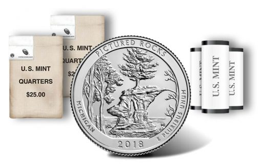 Pictured Rocks National Lakeshore quarter, rolls and bags