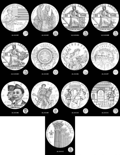 $1 Silver American Legion Obverse Design Candidates