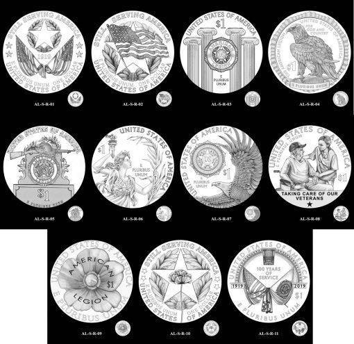 $1 Silver American Legion Reverse Design Candidates