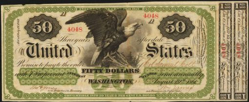 1861 $50 Interest Bearing Note