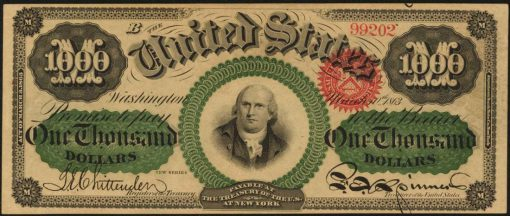 1863 $1000 Legal Tender Note