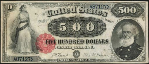 1880 $500 Legal Tender Note