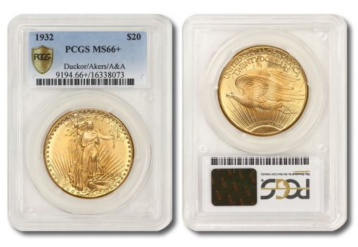 1932 Saint-Gaudens Double Eagle - PCGS MS66