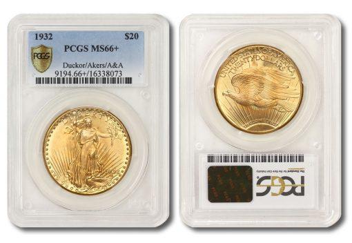 1932 Saint-Gaudens Double Eagle - PCGS MS66