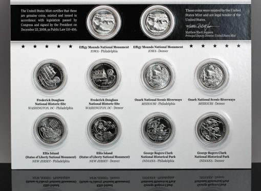 2017 America the Beautiful Uncirculated Quarters Set
