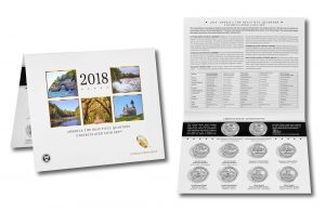 2018 America the Beautiful Uncirculated Quarters Set